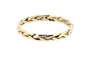 Welsh gold wedding ring plait